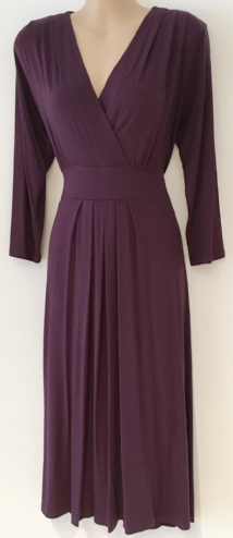 MULBERRY 3/4 SLEEVE JERSEY WRAP FRONT DRESS SIZES 14 & 20